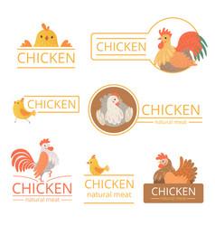 pollo logo chicken for farm vector image