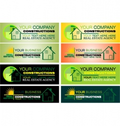 real estate design elements vector image