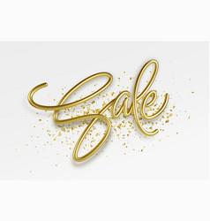 realistic golden inscription sale on a white vector image