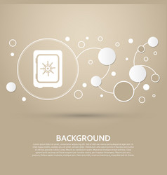 Safe money icon on a brown background with vector