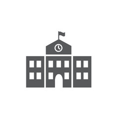 School building icon on white background vector