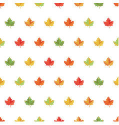 seamless pattern background maple leaf vector image