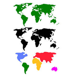 set abstract world maps vector image