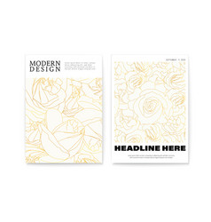 set modern posters with patterns blossoming vector image