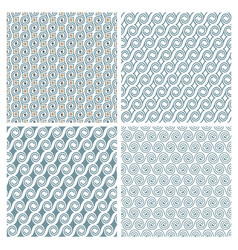 Set of four delicate seamless elegant patterns vector