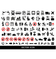 Set of public icons vector