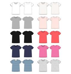 set technical sketch unisex t-shirt design vector image