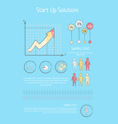 startup solutions and ideas vector image
