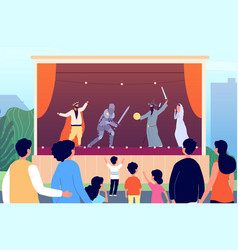 street theater culture entertainment outdoor vector image