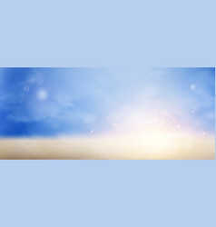 sunburst on twilight sky background vector image