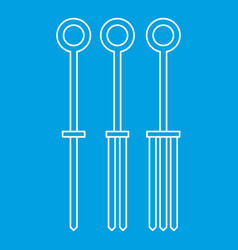 Tattoo needles icon outline vector