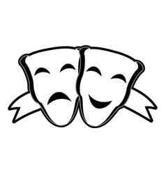 theater masks symbol vector image