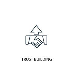 Trust building concept line icon simple element vector