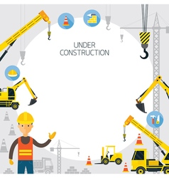 Under Construction Frame vector