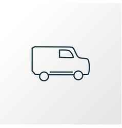 van icon line symbol premium quality isolated vector image