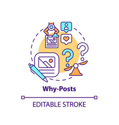 Why-posts concept icon vector