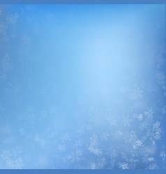 winter background with snowflakes holiday merry vector image