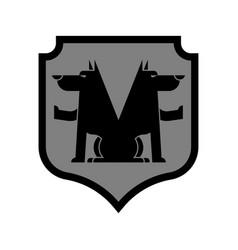 Wolf shield heraldic symbol sign werewolf for vector