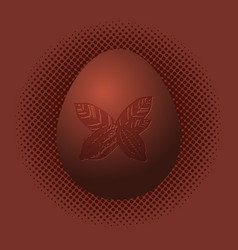 world chocolate day 11 july chocolate egg imprint vector image