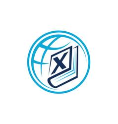World education letter x vector