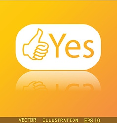 Yes icon symbol Flat modern web design with vector