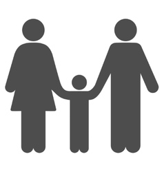 Family Child Flat Icon vector image