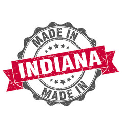 made in indiana round seal vector image vector image