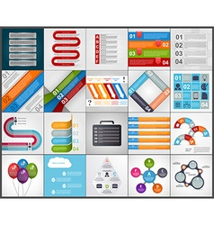 Set colorful infographics design elements vector image