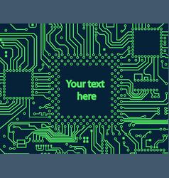 High tech electronic circuit board vector