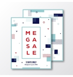 Season Mega Sale Poster Card or Flyer Template vector image vector image