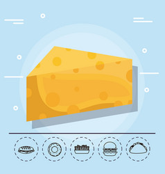 cheese for family summer vector image vector image