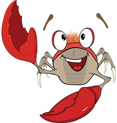 Cute red crab Cartoon vector image vector image