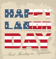labor day sign -american holiday vector image