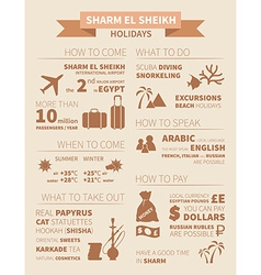 sharm infographics vector image vector image