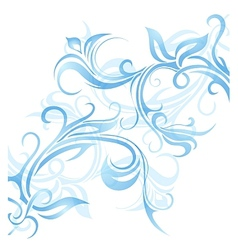 Window frost ornament vector image