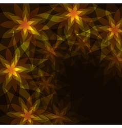 Floral background with decorative pattern vector image vector image