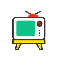 Tv screen vintage monitor template electronic vector