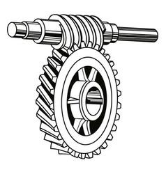 worm gear mechanism vector image