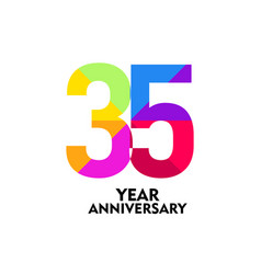 35 year anniversary template design vector image