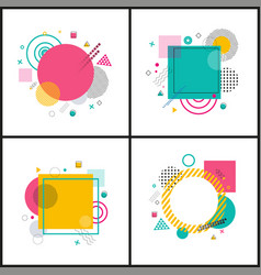 abstract placard collection on vector image