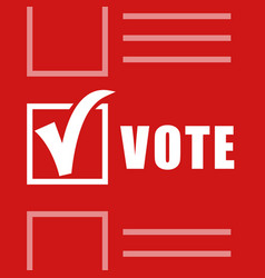 abstract red leaflet with candidate selection vector image