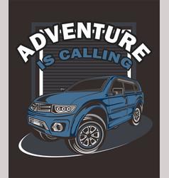 adventure is callingmanual hand vector image