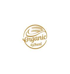 Agriculture logo - oragnic wheat farming growing vector