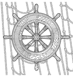 An helm in the zentangle style vector
