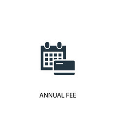 Annual fee icon simple element vector