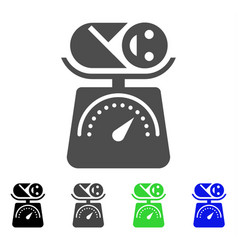 Baby weight icon vector