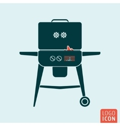 BBQ icon isolated vector