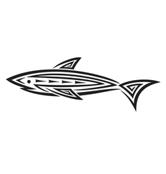 Black shark tattoo for design vector