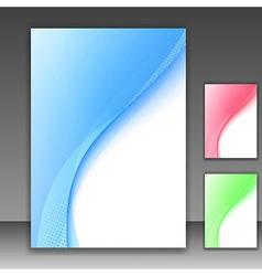 Blue modern folder template - swoosh background vector
