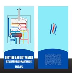 Boiler corporate identity template design vector